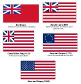Banderas de la British East India Company y Estados Unidos