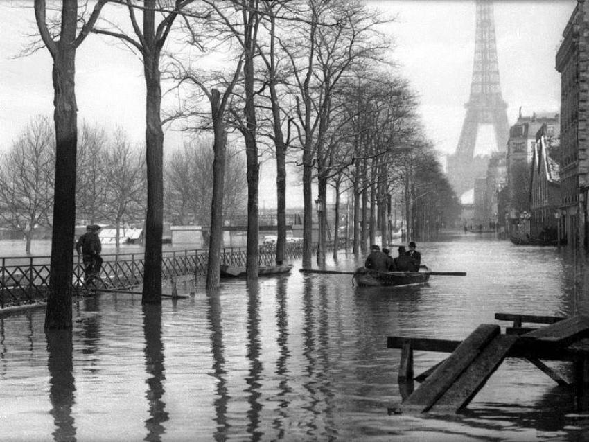 La gran inundación de Paris de 1910