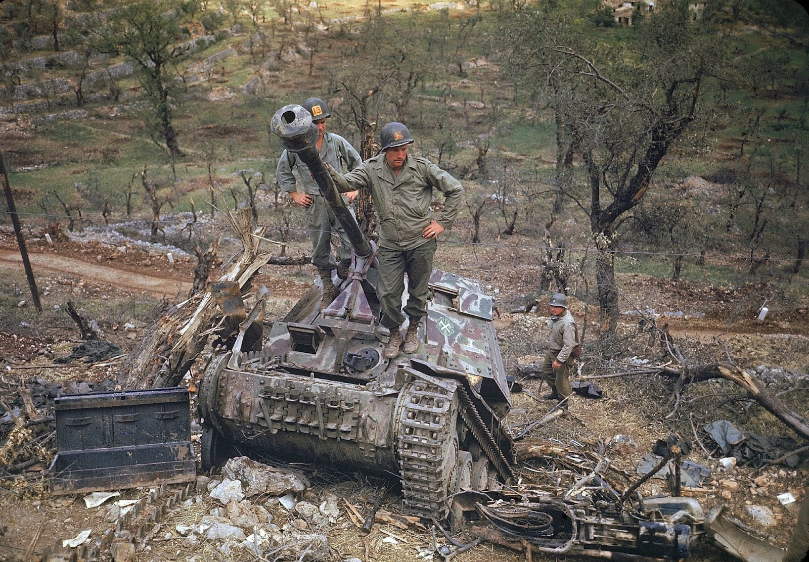 Tanques destruidos