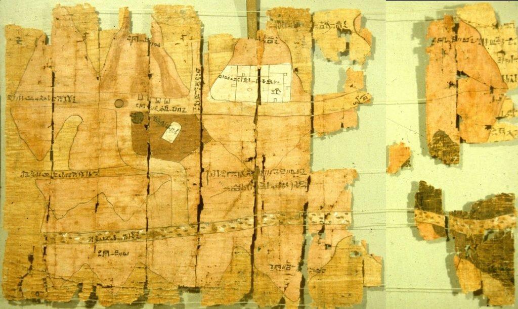 Fotografía del mapa más antiguo del mundo.