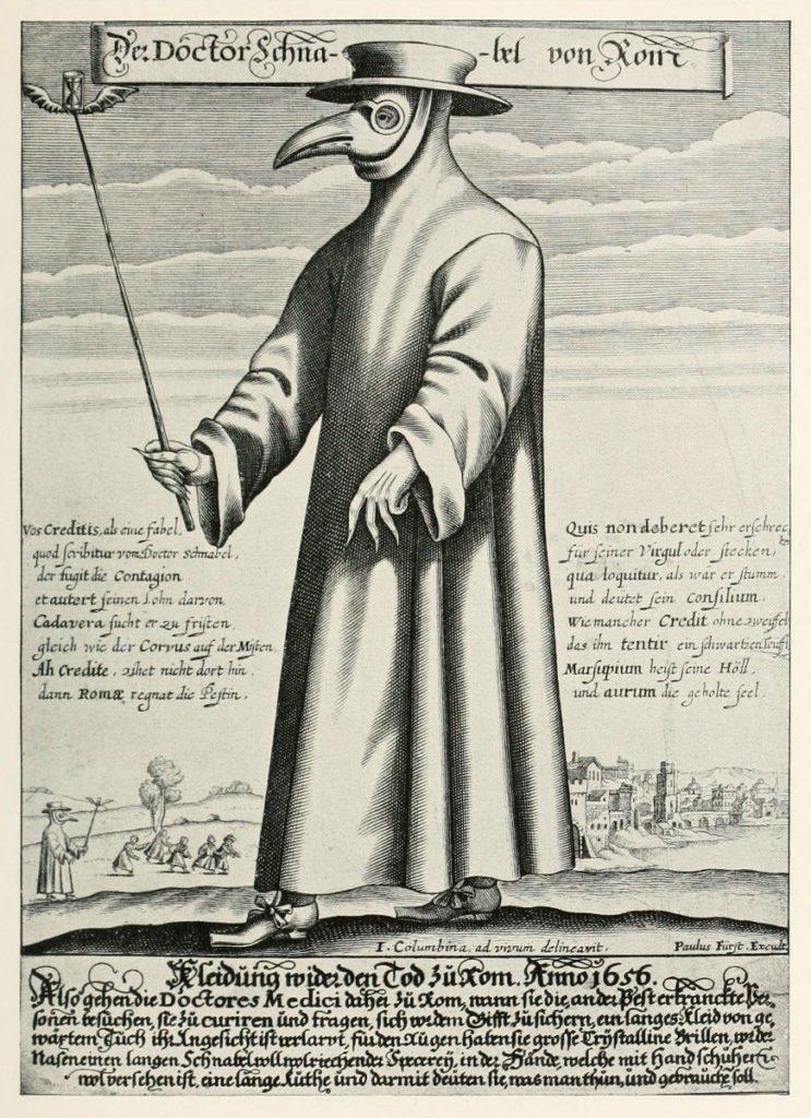 Ilustración de un médico medieval.