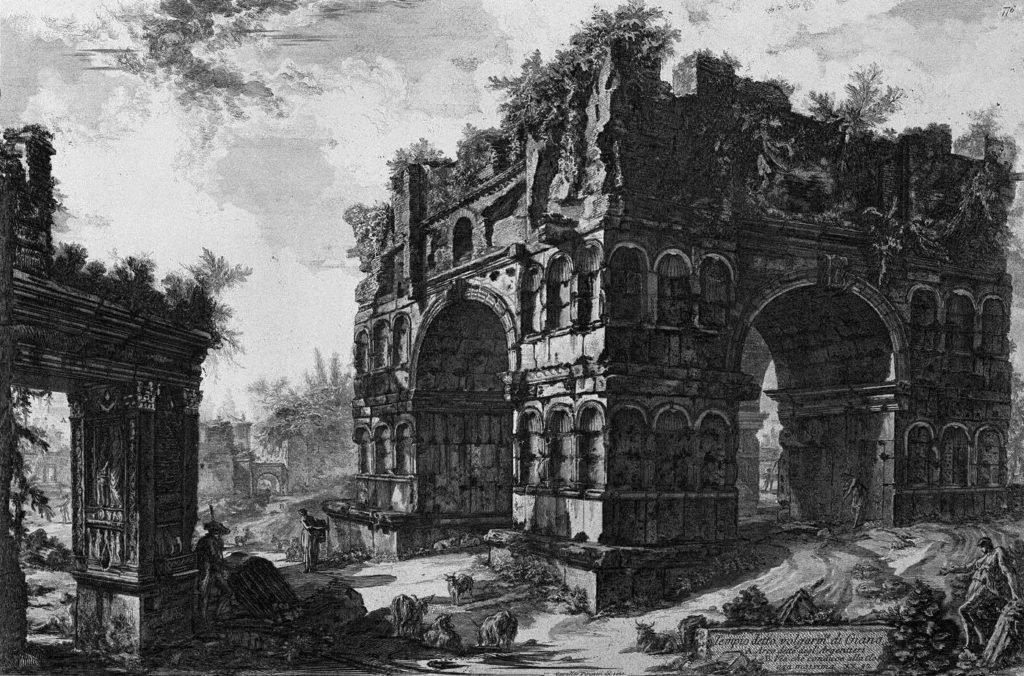 Ilustración del templo de Numa Pompilo.