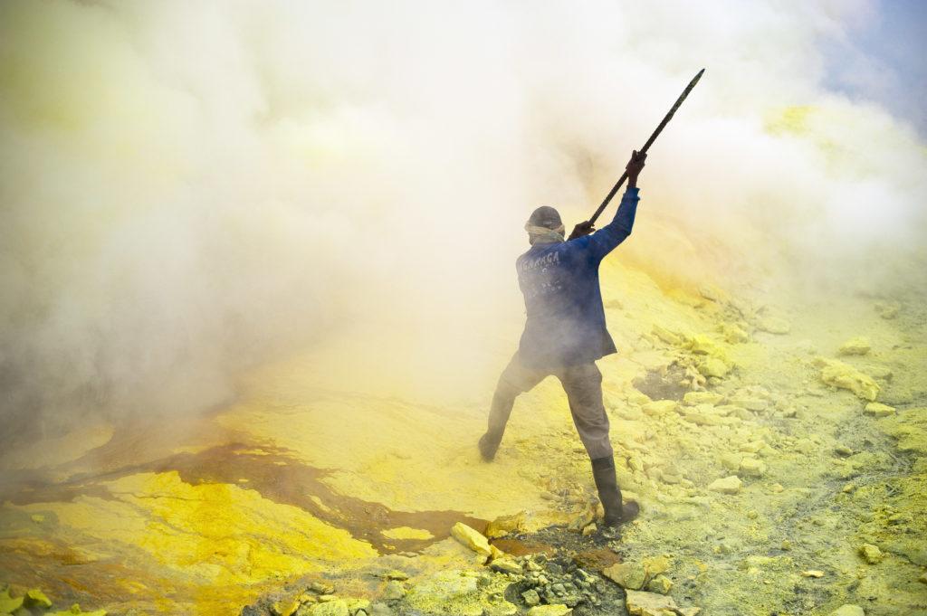 Minas de sulfuro de Java.