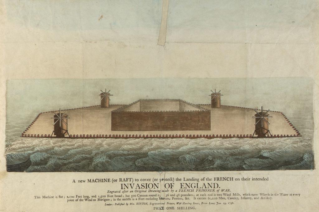 Ilustración de los Castillos flotantes franceses.
