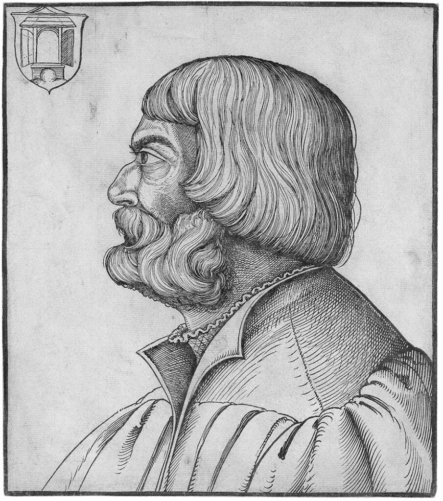 Ilustración del pérfil de Erhard Schön.