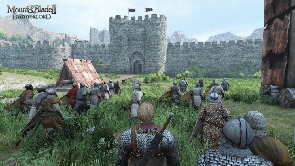 Asedio de un castillo en Mount & Blade II: Bannerlord.