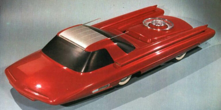 Vista superior de un Ford Nucleon.