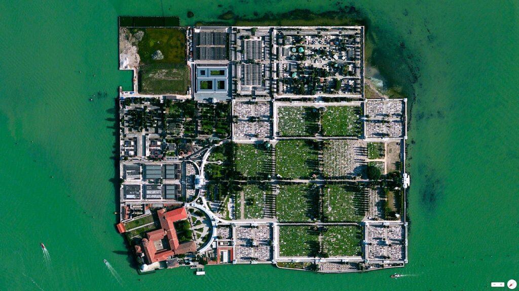 Imagen satelital de la isla.